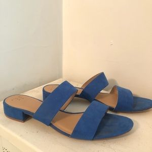 And Away Blue Suede Sandals Size 11